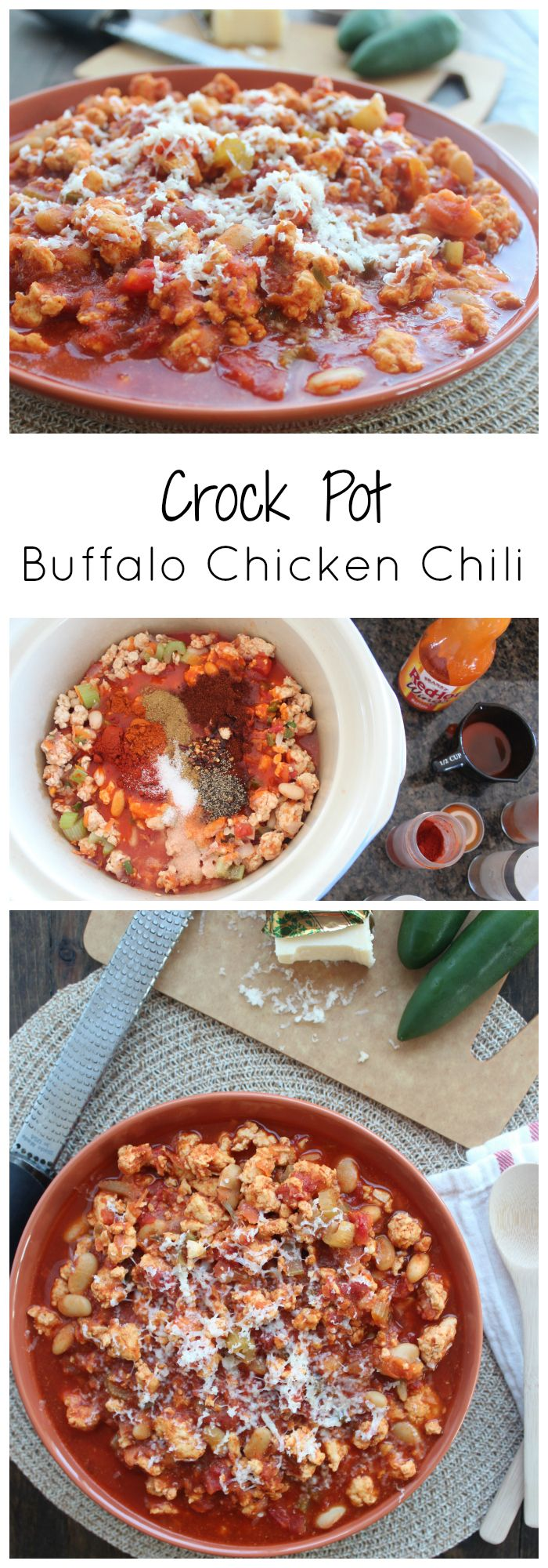 Crock Pot Buffalo Chicken Chili Recipe