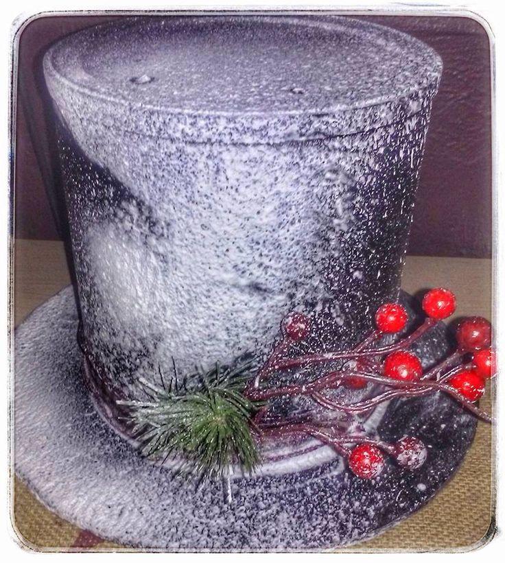 Coffee Can Snowman Hat Snowman Shoppe Pinterest Hats
