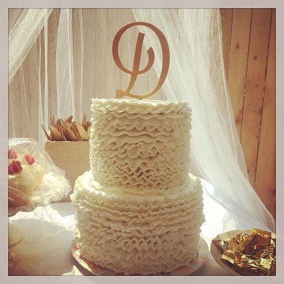 Custom Monogram Wedding Cake Topper by HomePrint3DToppers on Etsy