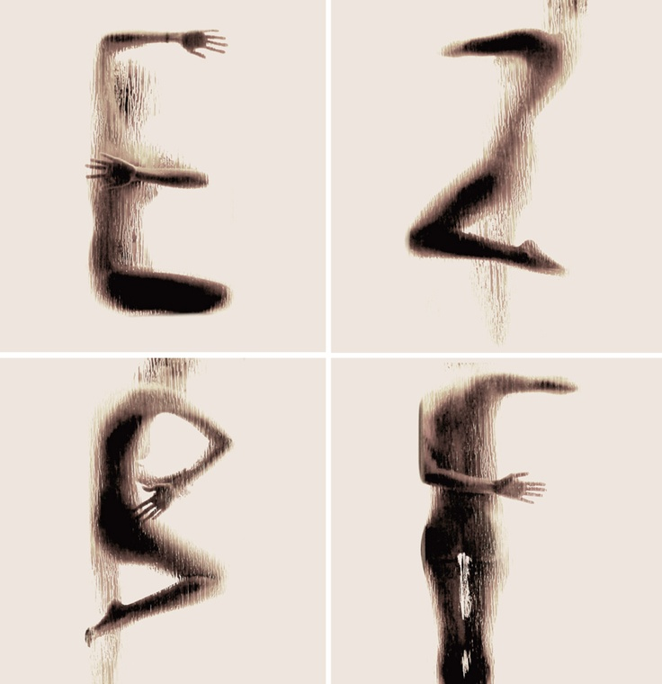 Body Silhouette Alphabet   A-Z here http://www.fubiz.net/2013/03/26/naked-silhouette-alphabet/