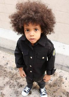 cute natural hair kids