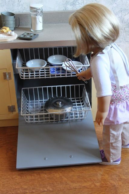 made pieces for reese 18 inch doll kitchen part 1 sink dishwasher dollar store dish washer