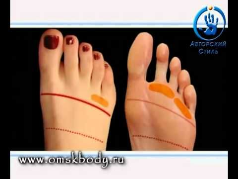 Рефлекторный массаж стоп ног Зоны Тайский массаж стоп