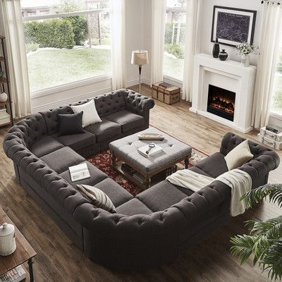 Grey Linen Tufted Sofa Loveseat Chaise Best 25+ Sectional Ideas On Pinterest | Teal Seat ...