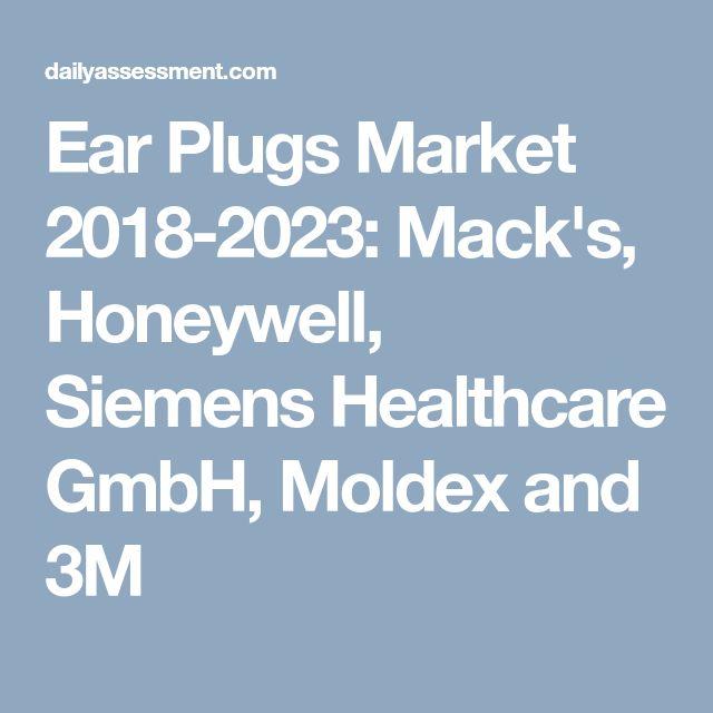 Ear Plugs Market 2018-2023: Mack's, Honeywell, Siemens Healthcare GmbH, Moldex and 3M
