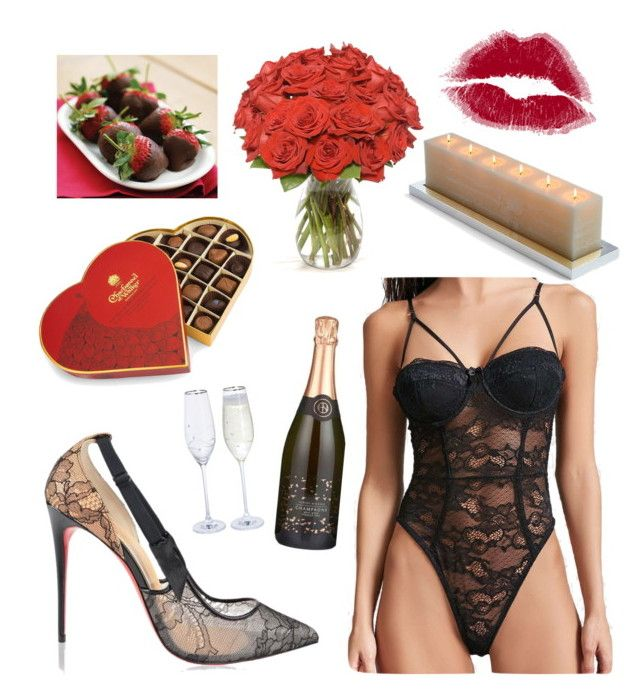 Romantic Night by jessann-harrold on Polyvore featuring polyvore fashion style Forever 21 Christian Louboutin Charbonnel et Walker Frontgate clothing