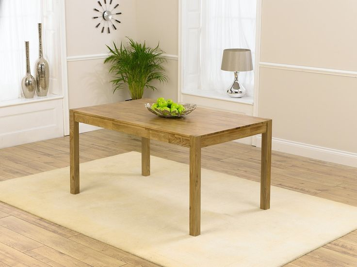 Purton 150cm Solid Oak Dining Table  The table seats as much as six and provides chic fashion which makes each meal an event.  https://www.bonsoni.com/purton-150cm-solid-oak-dining-table