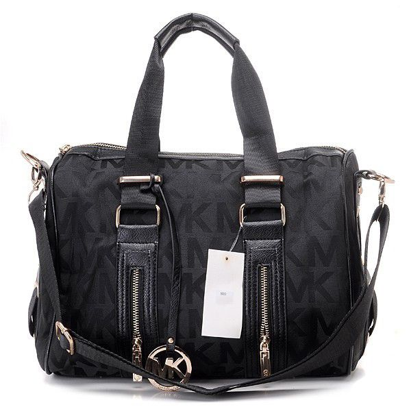 michael kors grayson logo large black satchel