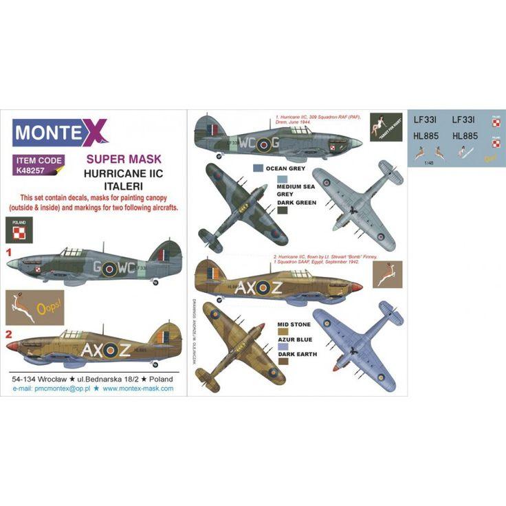 Montex 48257 - Hawker Hurricane Mk.IIc 2 máscara de dosel (e - máscaras de pintura 0148 - La elección más grande con 1001modelkits.com | Pinterest | Hawker ...  sc 1 st  Pinterest & Montex 48257 - Hawker Hurricane Mk.IIc 2 máscara de dosel (e ...