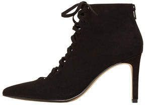 MANGO OUTLET Heel lace-up ankle boots