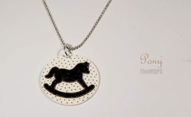 * Pony * 100% handmade & original jewellery. Necklace. themqps, more: themqps.blogspot.com