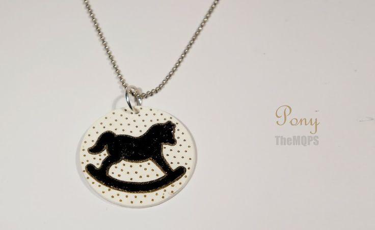 * Pony * 100% handmade & original jewellery. Necklace. themqps, more: themqps.blogspot.com