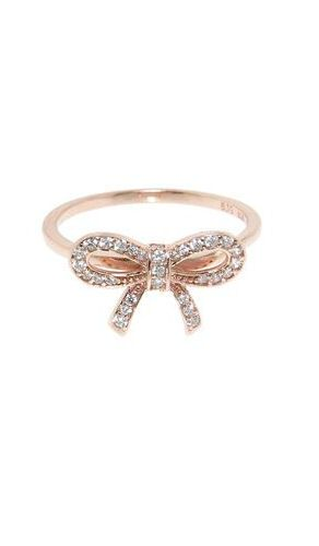 Rose Gold Pave Bow Ring ♥