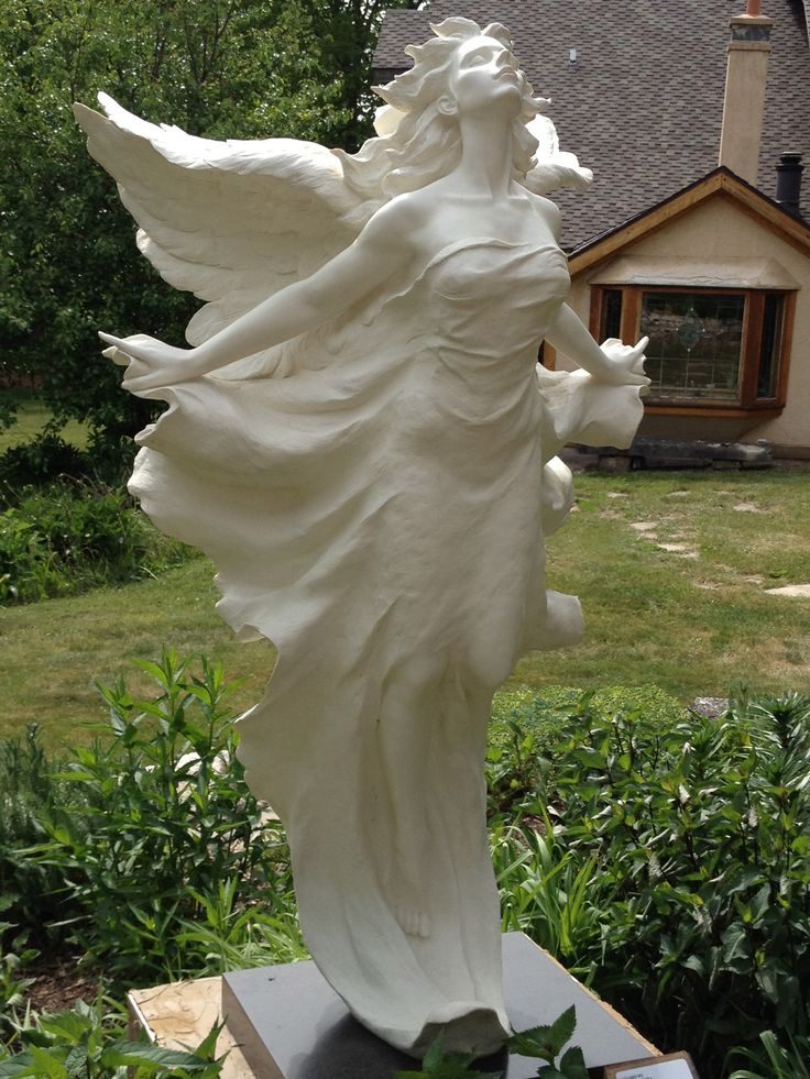 768 best angel statues images on pinterest angel statues for Fish garden statue