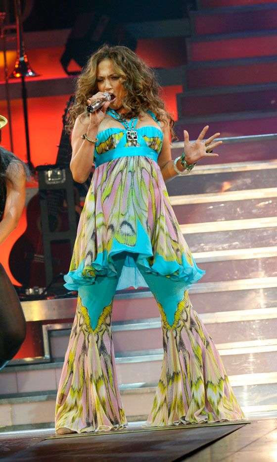 Jennifer Lopez Takes Style Inspiration From Abba On Tour With Her Husband Marc Anthony, 2007
