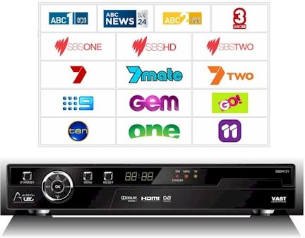 UEC receiver for the VAST channels for Australia.