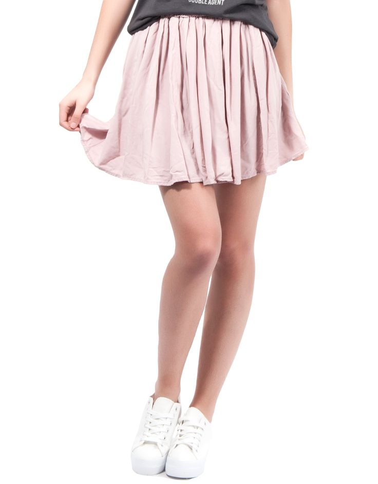 Falda lisa goma cintura Double Agent 14,99€ www.doubleagent.es #fashion #clothes #ropa #skirt