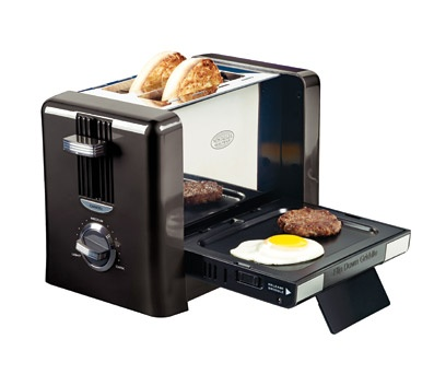 Toaster with griddle. How awesome is that! Great dorm breakfast idea. $34.99