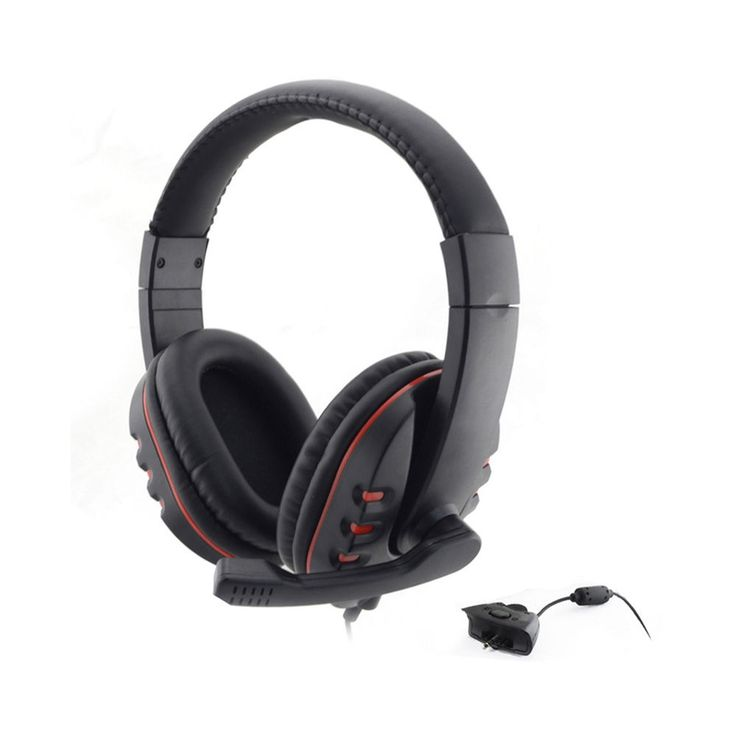 Gaming Headset Headphone w/Mic For Xbox 360 Wireless Game Controller Black+Red #UnbrandedGeneric