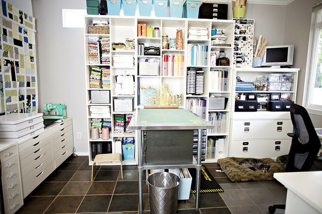 This is sew what I want! Down to every detail with my sewing machine and serger on a desk to the right and my cricut expression on another desk to the right. Love...
