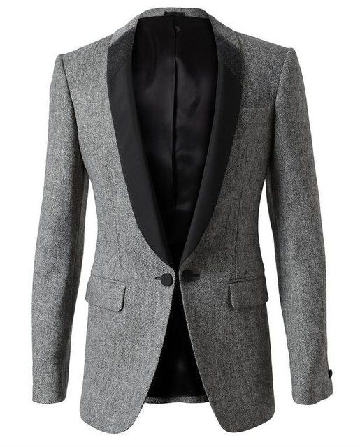 0c3a200e2f1d0 Alexander Mcqueen Wool and Silk Smoking Jacket in Gray for Men (grey) | in  2019 | JUST BLAZE | Smoking jacket, Mens fashion:__cat__, Fashion