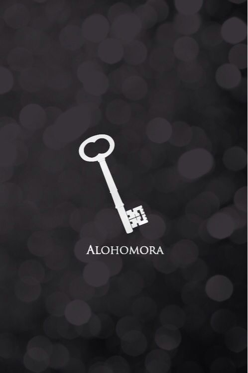 iPhone wallpaper.  Alohomora. Harry Potter. Week 47 2014
