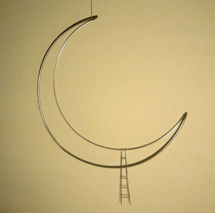 Luna de hierro y escalera de aluminio con soldadura mig.