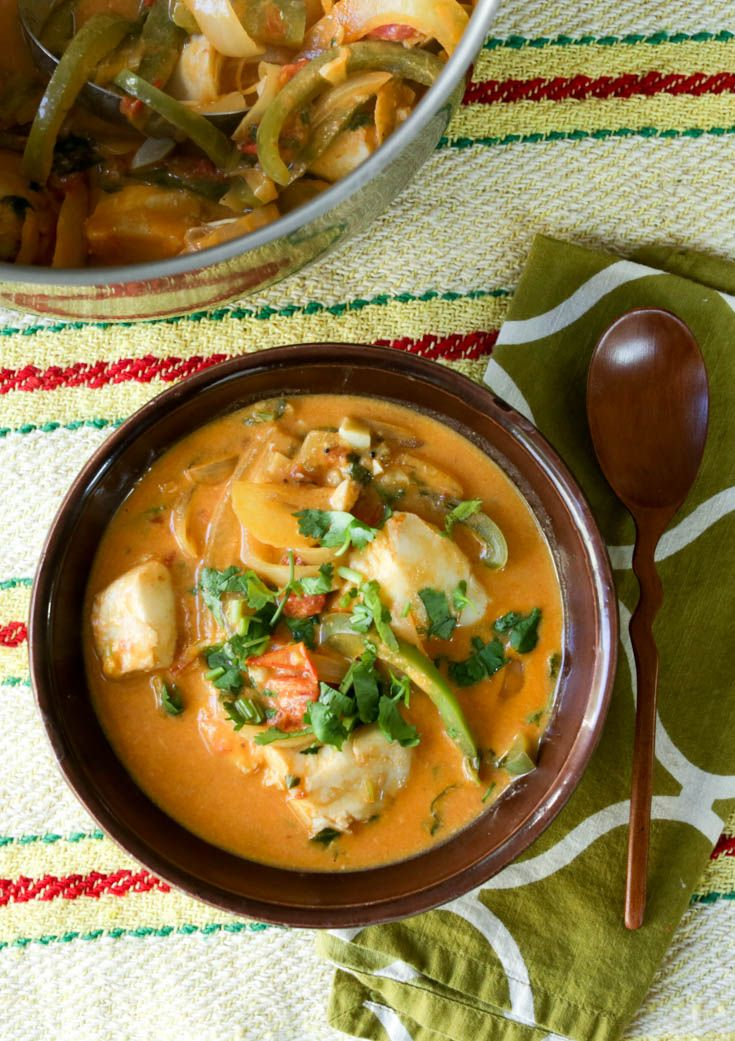 Brazilian moqueca! This easy, healthy and FAST stew will become one of your weeknight go-to meals. Coconut milk, vegetables and seafood come together into this delicious soup in under 20 minutes