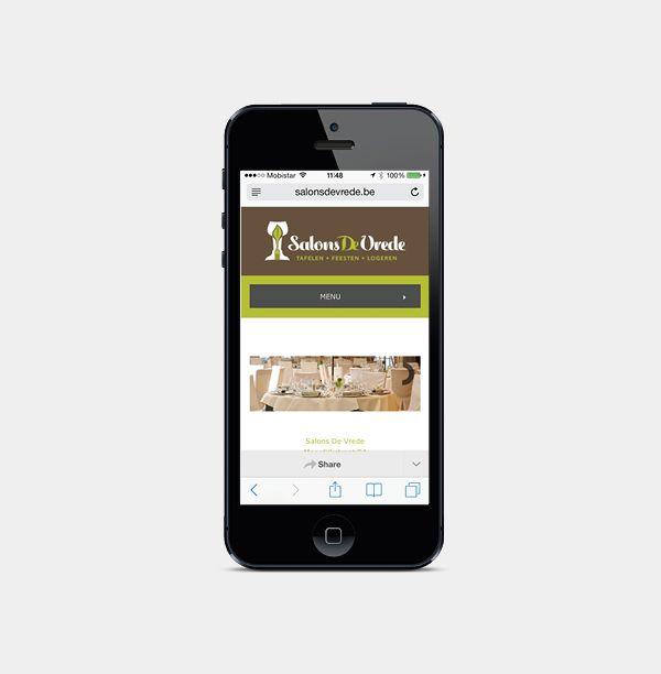 Salons De Vrede - Website realisatie - Communicatie en reclamebureau 2design Roeselare - Grafisch ontwerp, webdesign en apps - Website