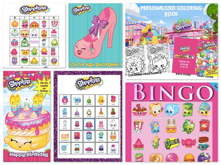 Shopkins Birthday Party Planning Ideas & Supplies >> Shopkins Party Games & Activities