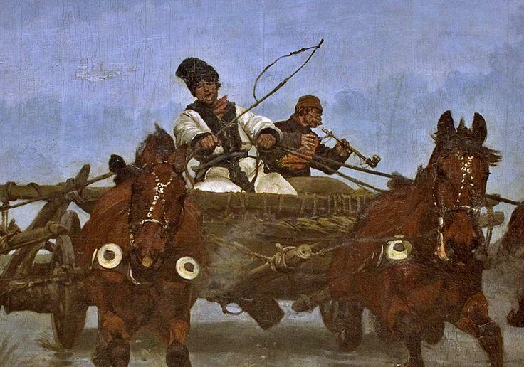 Józef Chełmoński <em>Czwórka</em>, detal | 1881 rok, Muzeum Narodowe w Krakowie