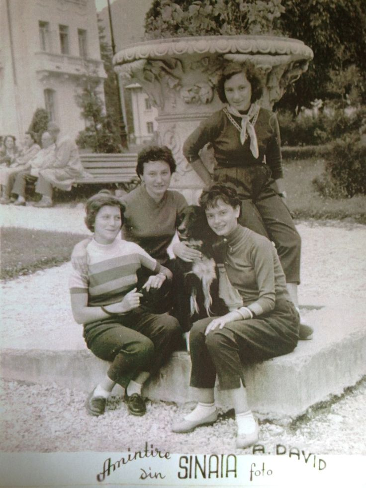 My mother, Geta Pavel (right) & her best friends at Sinaia, in her teens.