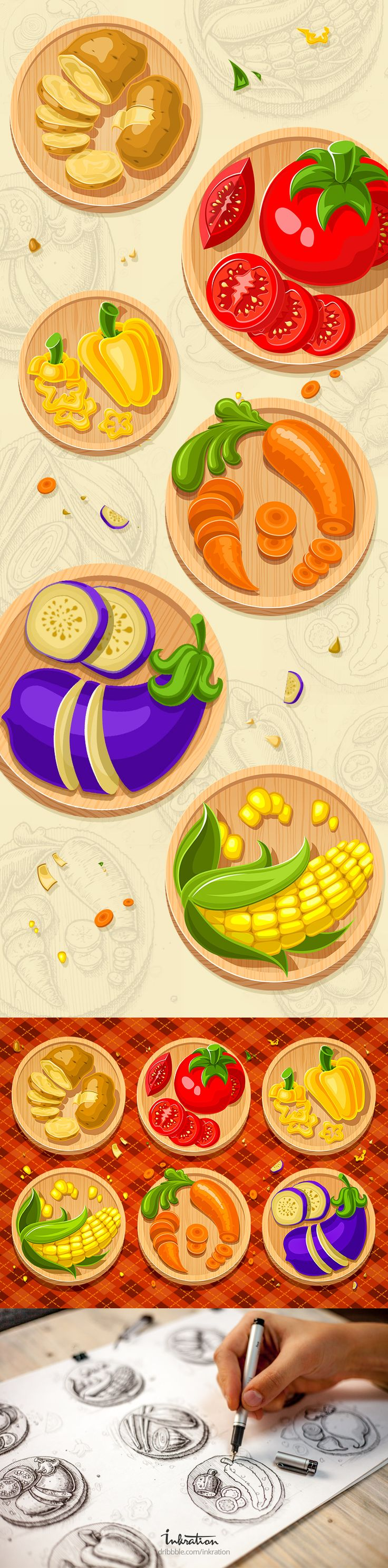 Just finished vegetable icons from previous shot. More details in attachment :)
