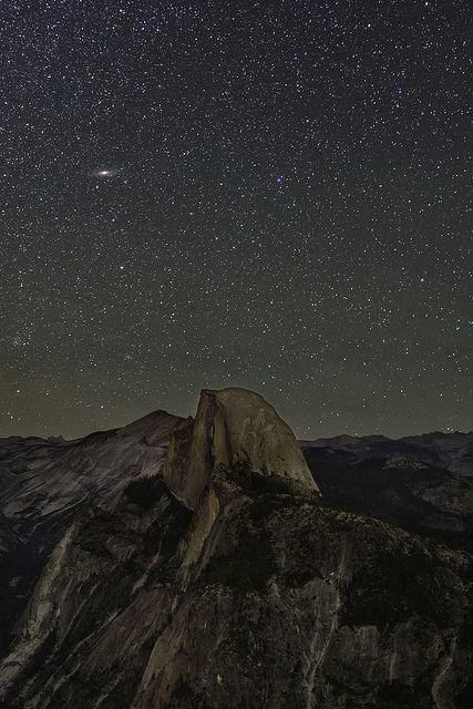 Andromeda Rising over Half Dome | Flickr - Photo Sharing!