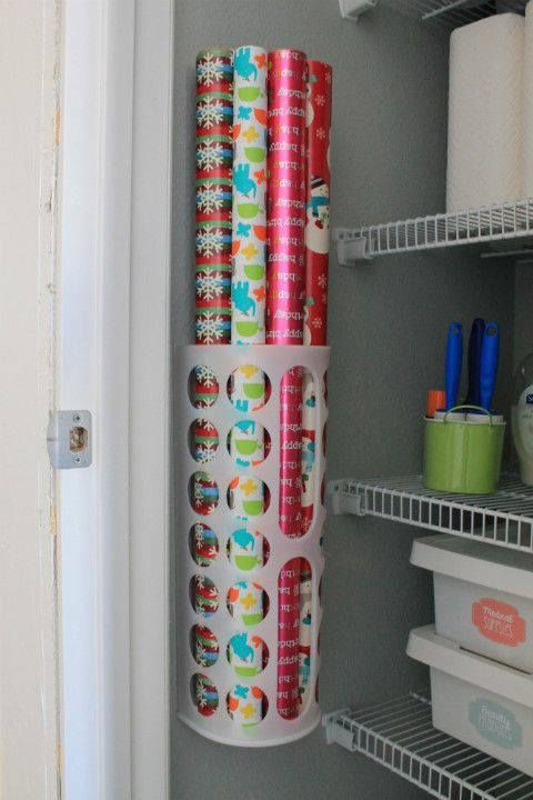 organize that Christmas wrap