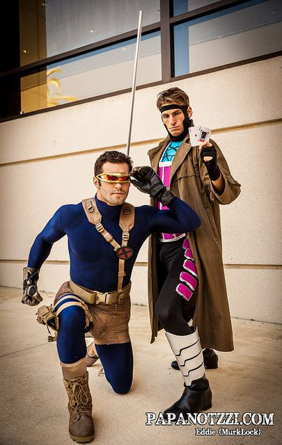 Cyclops and Gambit - X-Men   Megacon . View more EPIC cosplay at http://pinterest.com/SuburbanFandom/cosplay/...