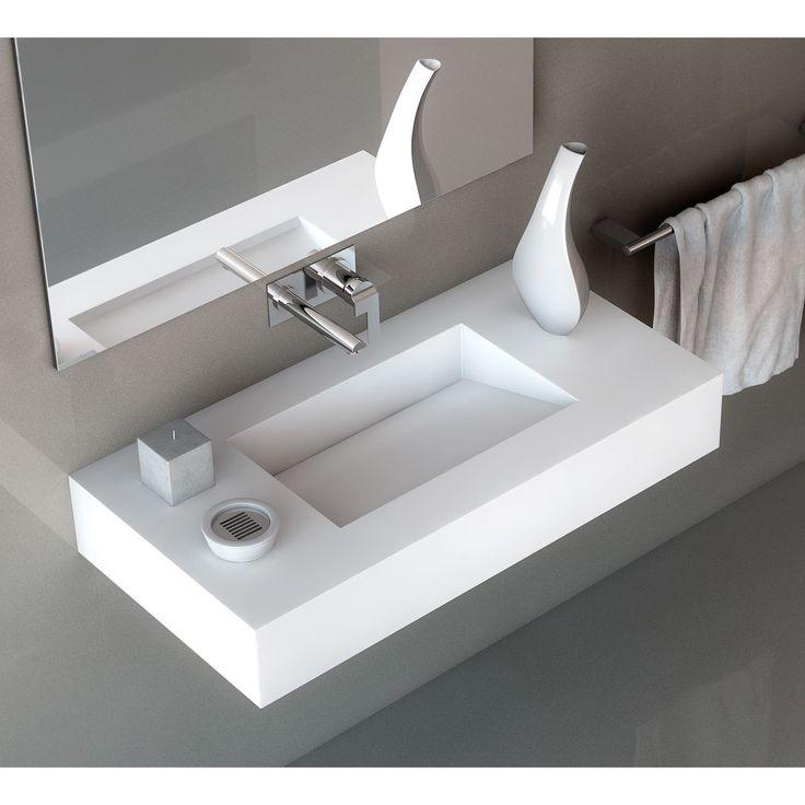 Lavabo con encimera Armony Silestone® Lavabo con encimera para el baño Armony. Lavabo de diseño para el baño integrado con la encimera y fabricado en...