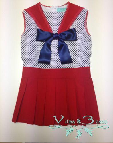 Vilma & Bosco ~ Colección Primavera Verano 2014 | #Vestido - Familia #Marina | #Moda #infantil, diseños para bebés, niños y niñas hasta los 10 años | #celebraciones