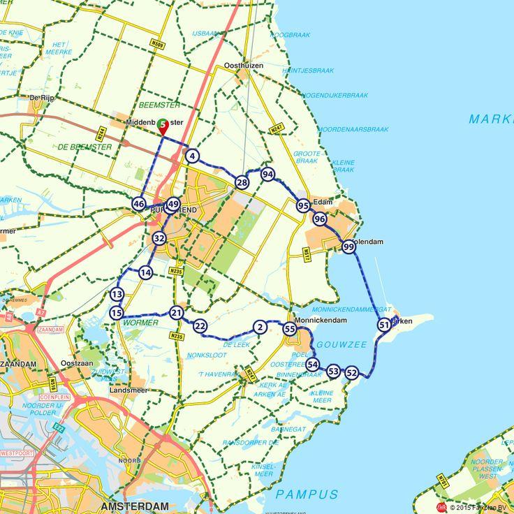 Fietsroute: Karakteristiek Waterland (http://www.route.nl/fietsroutes/118723/Karakteristiek-Waterland/)