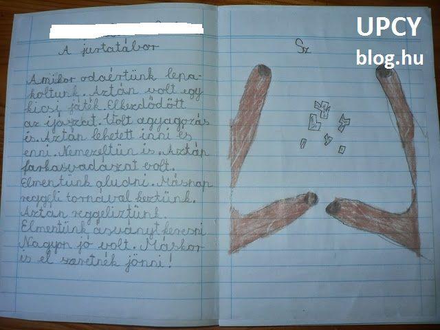 egy-egy könyvet állítottam össze az osztályfőnöknek és a napközis tanárnak a gyerekek munkáiból, minden évben utalva a tanult tananyagra. Minden gyerek egy A4 oldalra rajzolt és írt. Elsőben szépírással másoltak egy verset (persze versszakonként szétosztva), másodikban a mondatfajtákat tanulták, ezért mindenki írt néhány óhajtó, kérdő stb. mondatot, harmadikban pedig már egy kis fogalmazást írtak a közös élményeikről. A lapokat összeragasztottam, és bekötöttem.