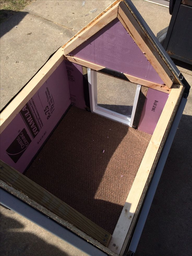 25 best ideas about insulated dog houses on pinterest for Insulated double dog house