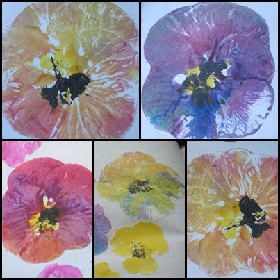 Pansy stamp...