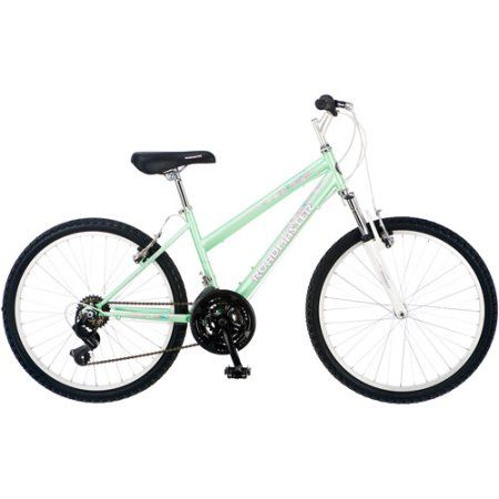 Roadmaster Granite Peak 24 inch Girls' Mountain Bike, Light Green