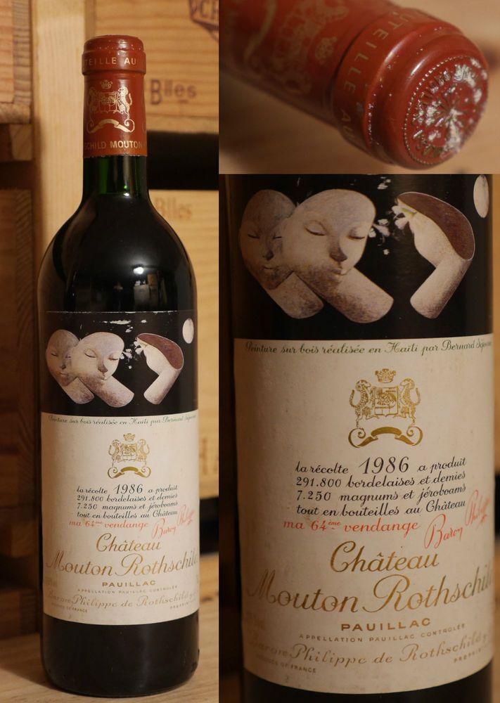 1986er Chateau Mouton Rothschild - Top Jahrgang *****