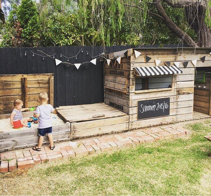 Cubby pour enfants jardin aire de jeux  #cubby #enfants #jardin