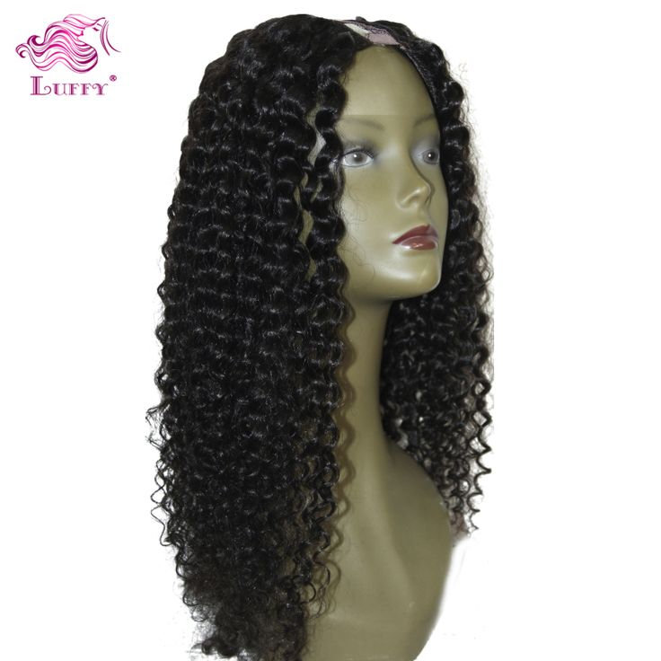Best Full Lace U Part Human Hair Wigs Brazilian Deep Curly U Part Wig Curly Wigs For Black Women With Bleached Knots Stock