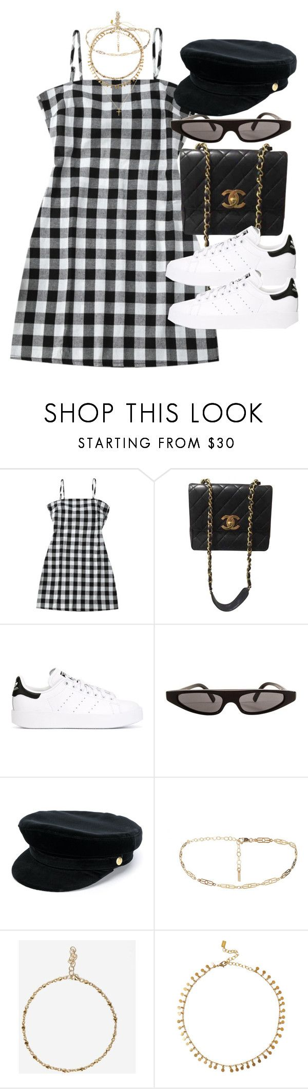 """""""Sin título #4638"""" by hellomissapple ❤ liked on Polyvore featuring Chanel, adidas Originals, Dolce&Gabbana, Manokhi and Chan Luu"""