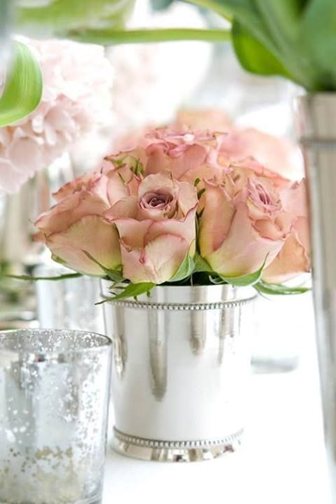 ♔ Enchanted Fairytale Dreams ♔: Pink Roses, Sweet, Wedding Ideas, Shabby Chic, Wedding Flowers, Floral Arrangement, Blush Roses