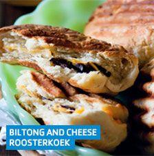 Biltong and cheese roosterkoek