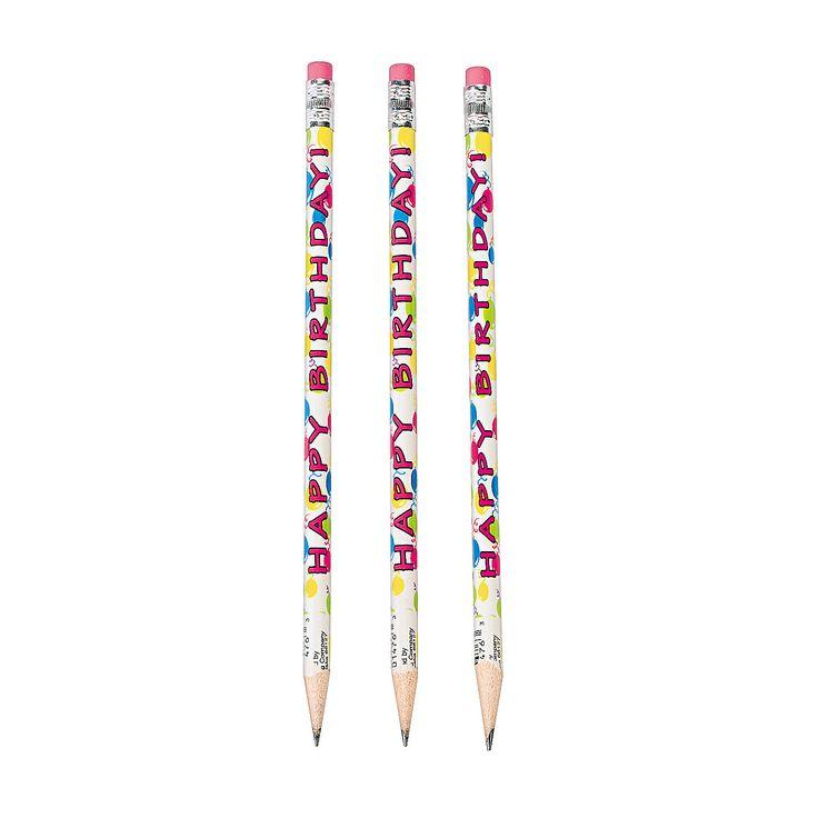 Happy Birthday Pencils - OrientalTrading.com